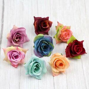 """2"""" Bulk Small Rose 30/100P Artificial Silk Flowers Heads for Wedding Home Decor"""