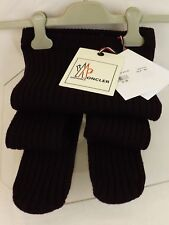 NWT MONCLER  DARK PLUM WOOL RIBBED KNITTED TIGHTS PANTYHOSE ONE SIZE $285 ITALY