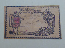ANTIQUE POST CARD LEATHER EARLY 20th CENTURY