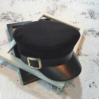 1Pce England Style Ladies Womens Girls Beret Baker Boy Peaked Cap Military Hat