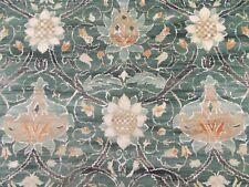 William Morris Curtain Fabric 'MONTREAL' 0.5 METRES (50cm) Forest/Teal Velvet