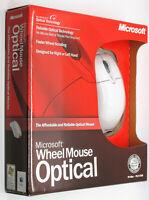 MICROSOFT WHEEL MOUSE OPTICAL PC Mac USB PS/2 X08-71117A Sealed Retail Box NOS