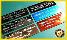 Trophy Plates Plaques UNLIMITED FREE ENGRAVING / GOLD, SILVER & BLACK NEW COPPER