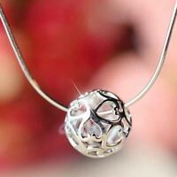 Wholesale Women Silver Crystal Ball Pendant Necklace Jewelry Christmas Gift