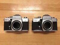 2 X Praktica MTL3 35mm Film Cameras - For Spares And Repairs - See Description