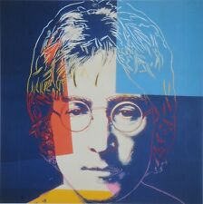 Andy Warhol Foundation Limited Edition Lithograph 31x40 John Lennon 1986 Beatles