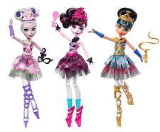 Monster High Ghoul's Ballerina Cleo De Nile Moaica D'Kay Draculaura 3 Dolls New