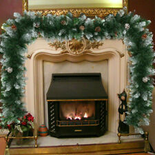 2.7M/9FT Christmas Garland Pine Cone Xmas Fireplace Decoration Artificial Wreath