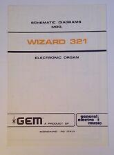 Original Gem Wizard 321  Electronic Organ Schematic Diagrams Diagramma