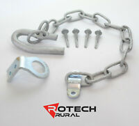 Farm Gate Latch Kit Screw On or Weld On - 350mm Chain Rotech SCLK350