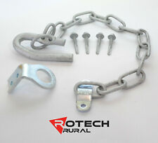 Farm Gate Latch Kit Screw On or Weld On - 350mm Chain Rotech SCLK350