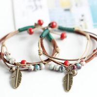 Fashion Rope Charm Porcelain Beaded Summer Boho Anklet Bracelet New HO3