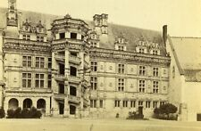 Castle Francois Premier Facade 41000 Blois France Old CDV Photo 1870