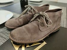 JOHN VARVATOS  USA CHUKKA ANKLE BOOTS GRAY SUEDE Men size 9