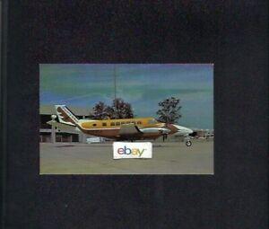 CHAPARRAL AIRLINES TEXAS BEECHCRAFT B-99 AIRLINER JAY SELMAN POSTCARD