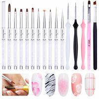 Nail UV Gel Brush Pen Rhinestone Handle Nail Art Painting Drawing Brushes Tools