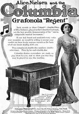Alice Nielsen COLUMBIA GRAFONOLA REGENT American Soprano 1911 ADVERTISEMENT