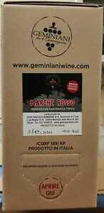 """Vino Rosso Marche IGT 2020 """" senza solfiti aggiunti """" Bag in Box 5 L Geminiani"""