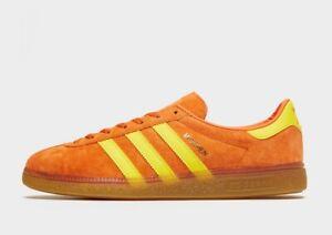 adidas Originals Munchen Shoes in Orange and Yellow Men's Suede Trainers