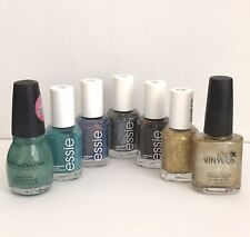 Lot of 7 Metallic Nail Polish Gold Essie CND Vinylux Sinful Colors NEW