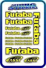 FUTABA SERVO RADIO RX TX 2.4G FLIGHT REMOTE CONTROL STICKERS FASST YELLOW B RC