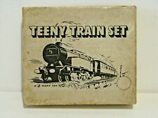 "Rare Vintage Diecast Clockwork ""Teeny Train Set"" Complete ( Not Working ) + Box."