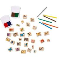 Deluxe Wooden Stamp Set – Animals- Melissa & Doug