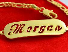 Namensarmband 'Morgan' 18K Gold Beschichtet | Valentinstag Geschenke für sie