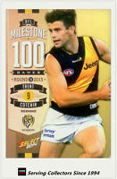 2014 AFL Champions Milestone Holofoil Card MG63 Trent Cotchill (Richmond)