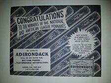 Adirondack Baseball Bats 1955 Ad Willie Mays Larry Doby Gil Hodges Del Ennis