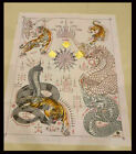 Thai Amulet Tiger   Naga Talisman Cloth Magic Protection By Lersi Bramee Phuta
