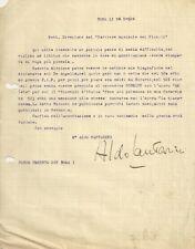 Lettera Autografo Maestro Compositore Musica Aldo Cantarini Roma a Firenze 1924