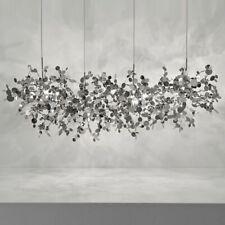 Lighting Hand Made Stainless Steel Leaves Chandelier Lamp Living Room Home Decor