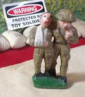 RARE #G105 GREY IRON Barclay Manoil Toy Soldier SOLDIER HELPING WOUNDED!!!