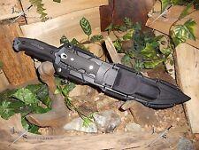 Machete/Sword/Knife/Flint/Carbon steel/Titanium/Full tang/Compass/Survival kit