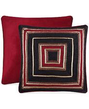 J Queen New York Berkshire Euro Pillow Sham Red Bedding Retail $85 D153