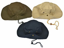 Unisex Safari Outback Australian 100% Cotton Bush Hat With Wide Brim
