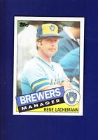 Milwaukee Brewers Team Checklist (Unmarked) 1985 TOPPS Baseball #628 (MINT)