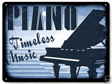 Grand Piano Metal Sign recording music studio vintage style wall decor art 056