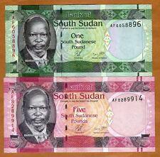 SET South Sudan, 1;5 Pound, 2011, Pick 5-6, UNC