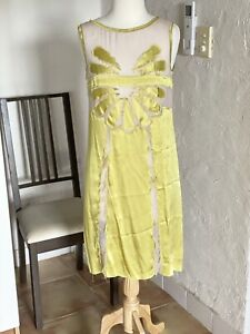 Philosophy Di Alberta Ferretti Silk Shift Dress Size 40 Rrp$795