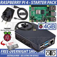 Raspberry Pi 4 Model B 4GB Starter Pack | Black Foundation Case