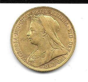 Münze Gold Sovereign Victoria Melbourne 1899 Großbritannien