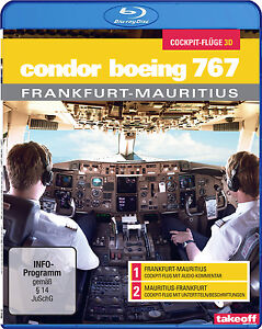 Condor B767 Frankfurt-Mauritius - Cockpit-Flüge - Blu-ray 3D - NEU - Take-off TV