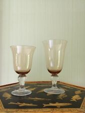 Ballard Designs wine and water amber drinking glasses