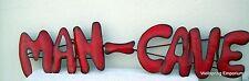 """Large MAN CAVE 38"""" Metal Red Letter Sign Media Room, Game Room, Bar, Garage Art"""