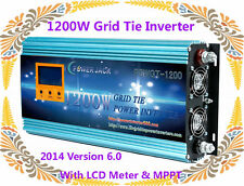 1200W Grid Tie Inverter 102-158V DC/220VAC With LCD Meter & MPPT For Solar Panel