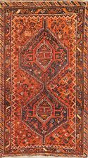 Vintage Geometric Tribal Abadeh Oriental Area Rug Wool Hand-Knotted Nomad 4x7