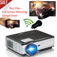 4500LM LED HD Projector Home Theater Video HDMI TV Free WiFi Mirascreen Receiver