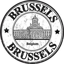 "Brussels City Belgium Europe Travel Car Bumper Sticker Decal 5"" x 5"""